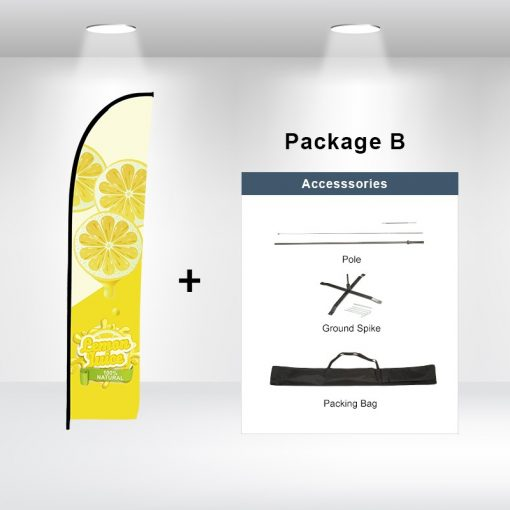 Straight Advertising Flag Package B