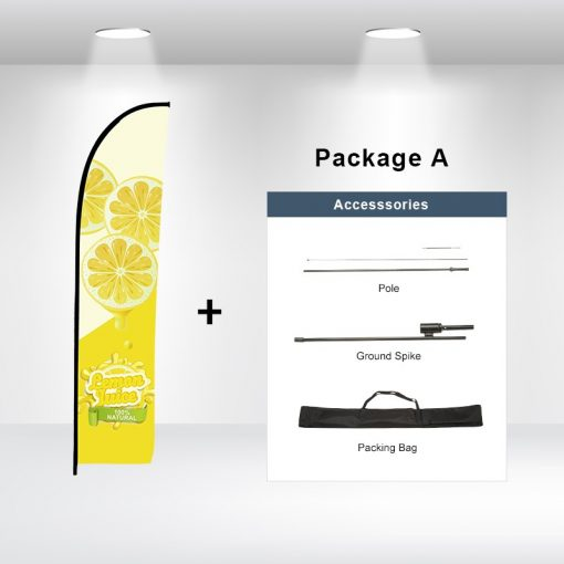 Straight Advertising Flag Package A