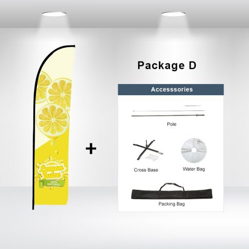 Straight Advertising Flag Package D