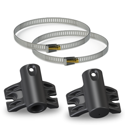 Upper and Lower pole Brackets kit-Thick Banded