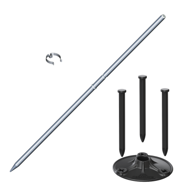Universal MegaPlate Kit with Spike (Silver)