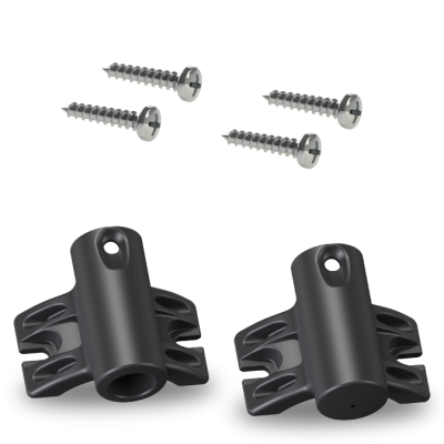 Upper and Lower pole Brackets kit-Thick w/Screws